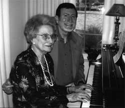 Margaret Shuler Wyckoff playing piano