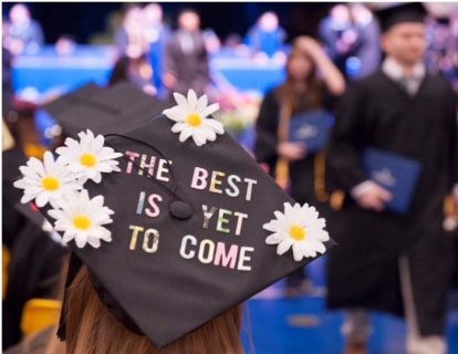 Graduation Hat that reads: The best is yet to come